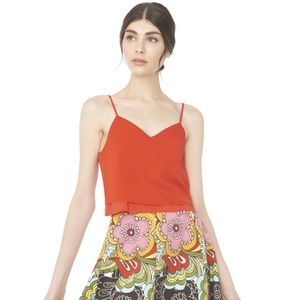 Alice + Olivia Double Layer Crop Tank Cami Blouse